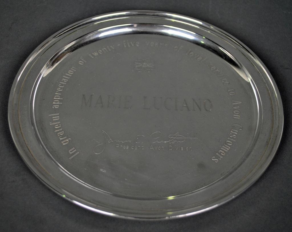 7: TIFFANY STERLING SILVER PRESENTATION PLATE