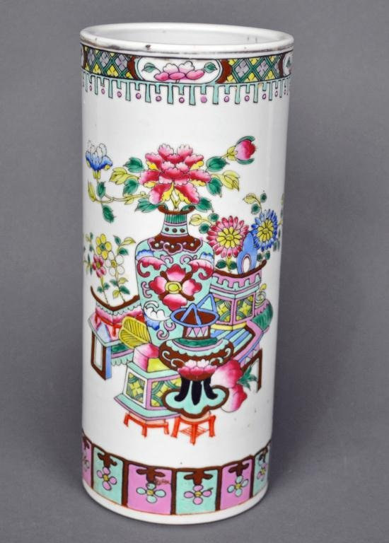 14: CHINESE FAMILLE ROSE VASE, GUANGXU PERIOD
