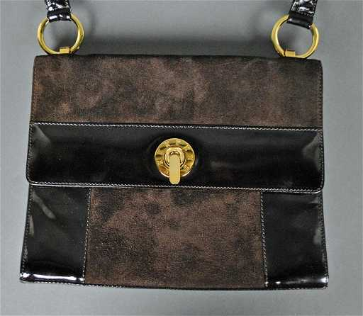 fa4d963cca70 174: PALOMA PICASSO BROWN SUEDE SHOULDER BAG
