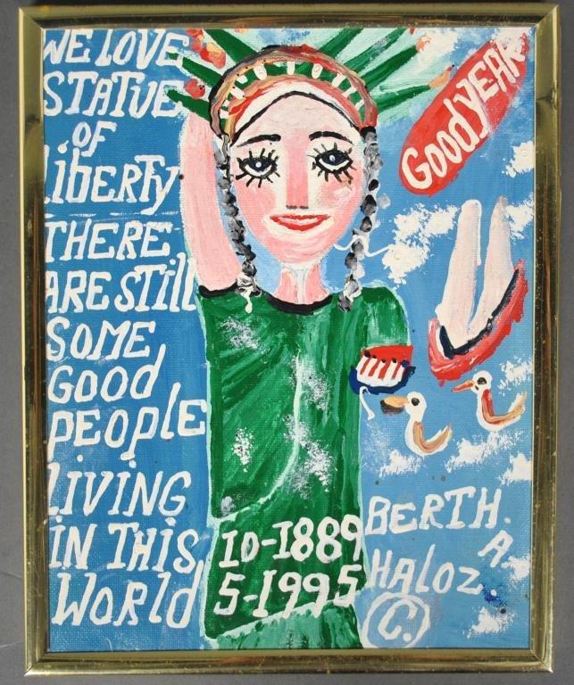 BERTHA HALOZAN - OUTSIDER ART, NEW YORK