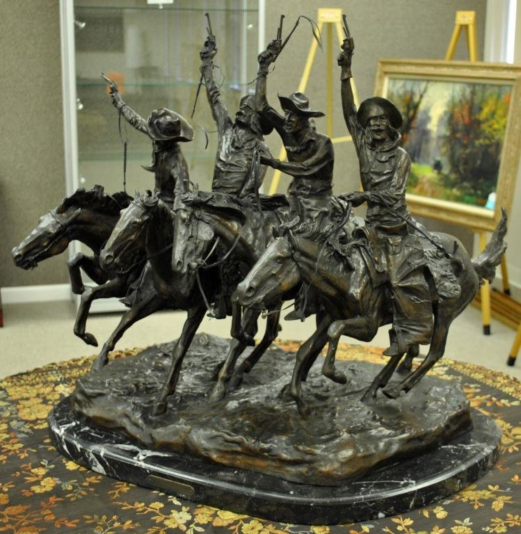 AFTER FREDERIC REMINGTON - COMING THROUGH THE RYE