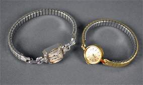 TWO LADIES 14K WATCHES  WITTNAUER AND OMEGA