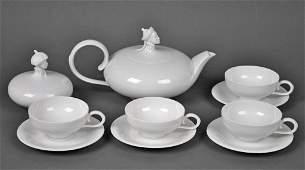 AUSTRIAN BLANC DE CHINE TEA SET