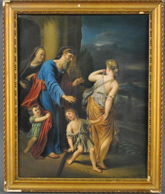 KPM PORCELAIN PLAQUE - THE EXPULSION OF HAGAR