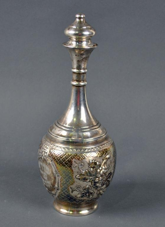 JUDAICA STERLING WINE DECANTER
