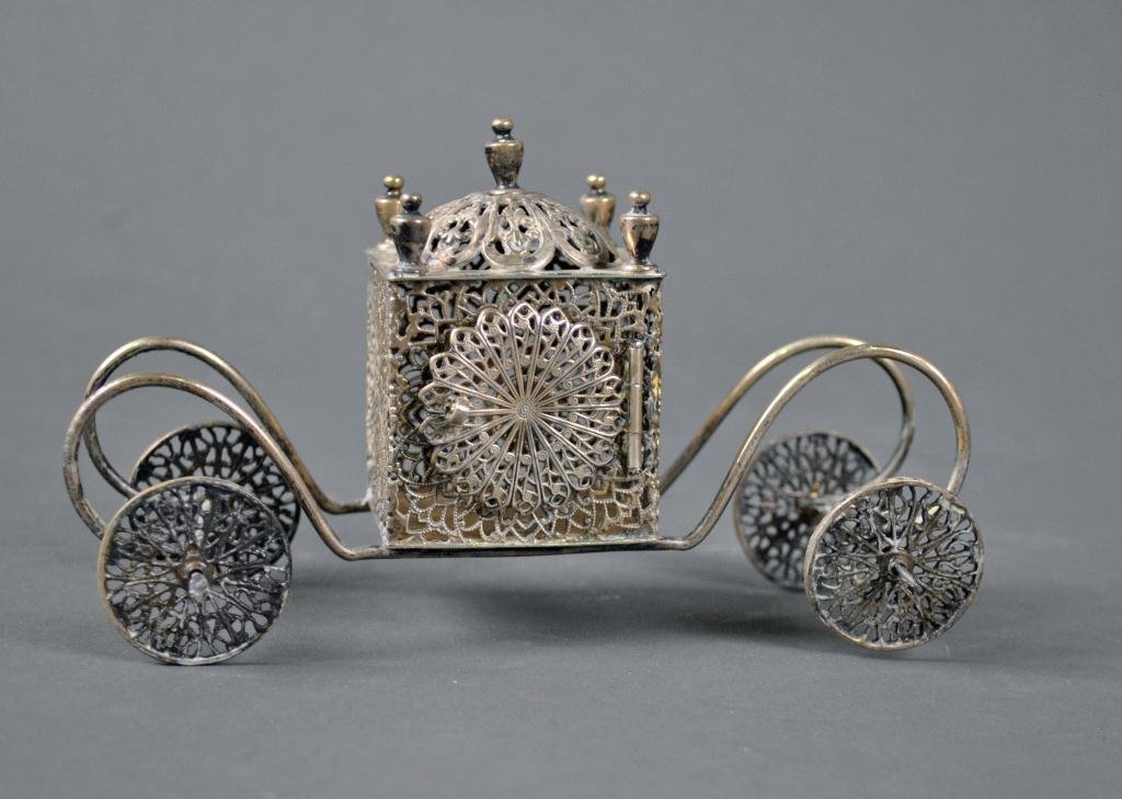 JUDAICA STERLING MINIATURE CARRIAGE