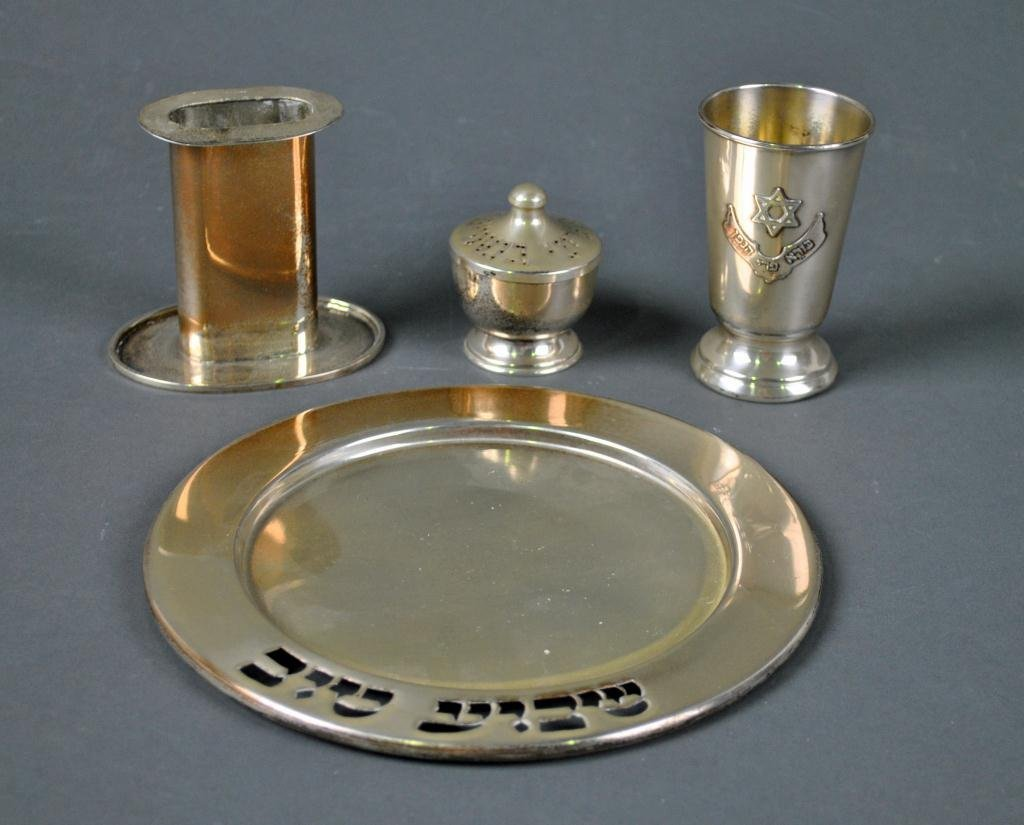 JUDAICA 4-PIECE STERLING HAVDALAH SET