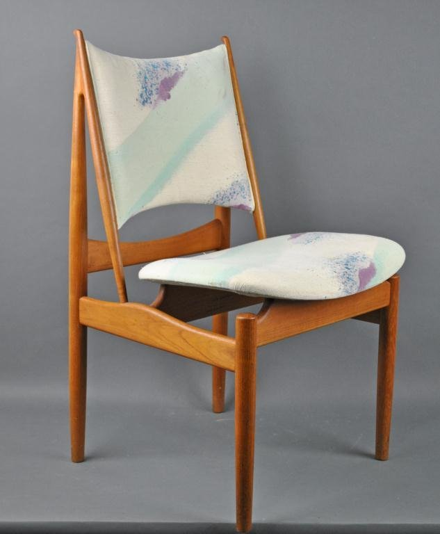 6 FINN JUHL FOR NIELS VODDER TEAK EGYPTIAN CHAIRS