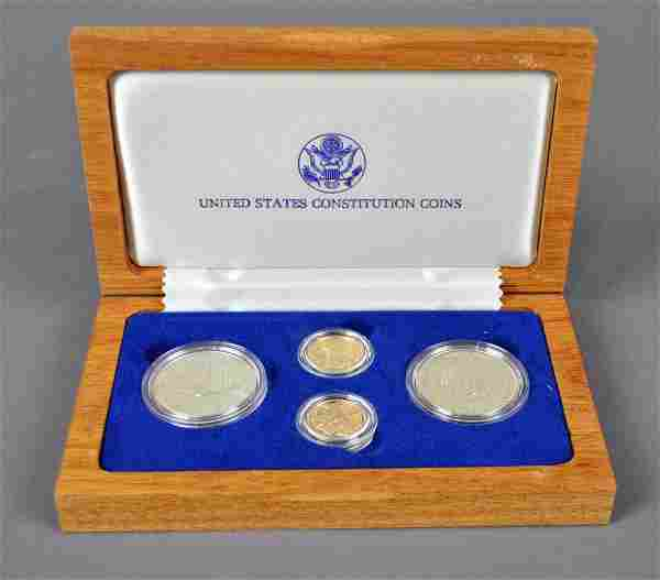 1987 UNITED STATES CONSTITUTION FOUR-COIN SET