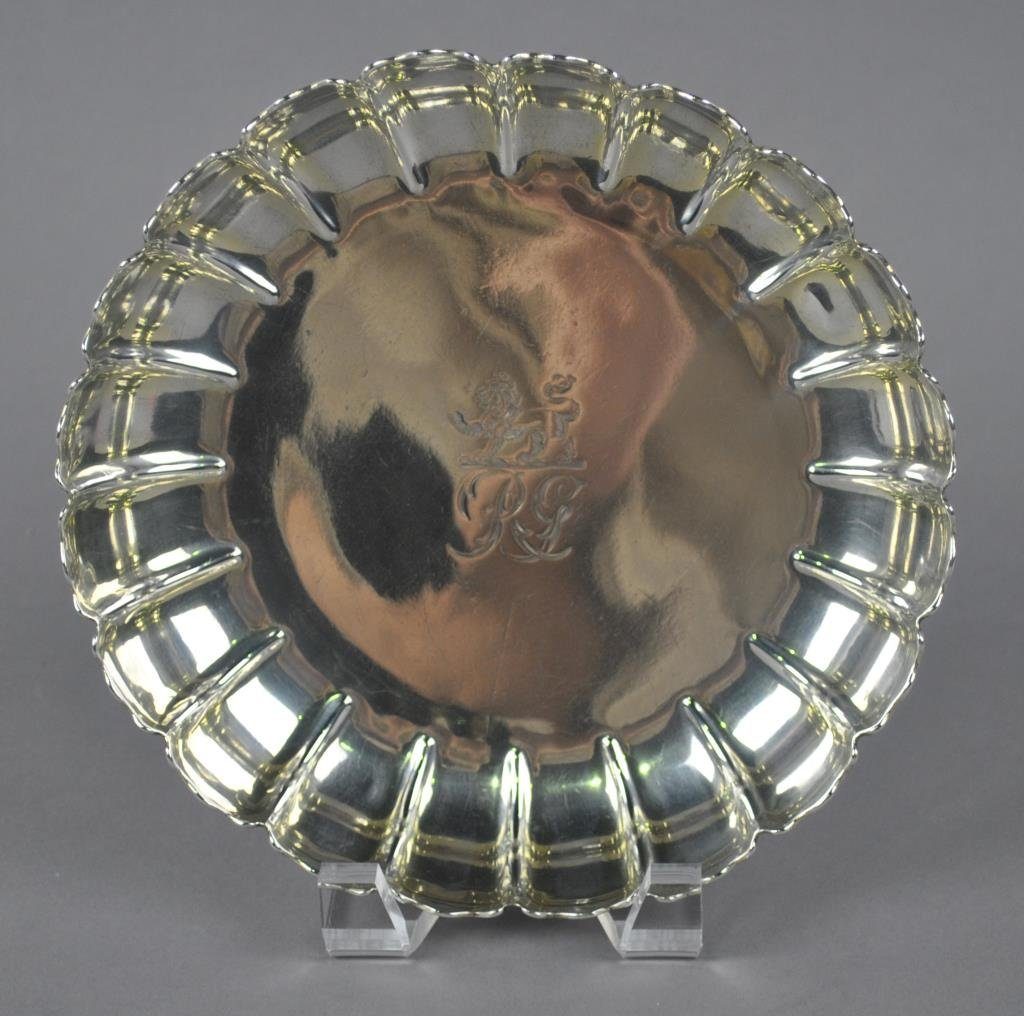 ENGLISH GEORGE III STERLING FLUTED SHALLOW BOWL