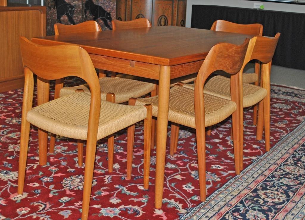 J.L. MOLLER (ATTR) DANISH TEAK DINING TABLE