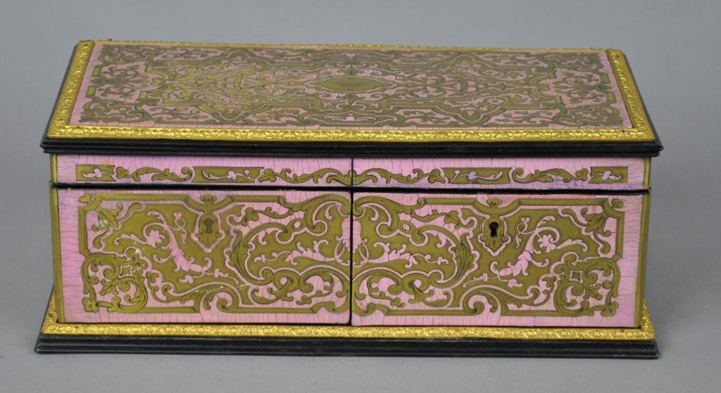 FRENCH BOULLE JEWEL CASKET BY TAHAN OF PARIS