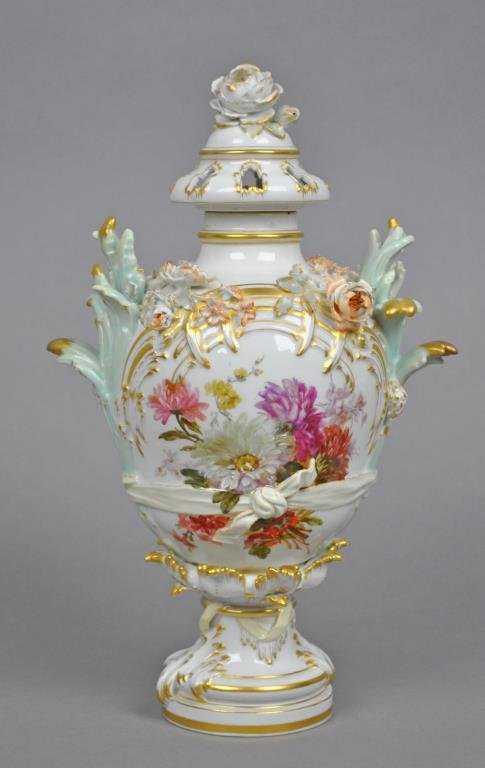 Kpm Porcelain Lidded Potpourri Jar