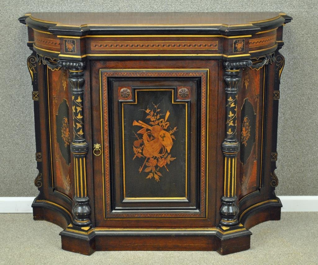 AMERICAN RENAISSANCE ROSEWOOD INLAID CABINET