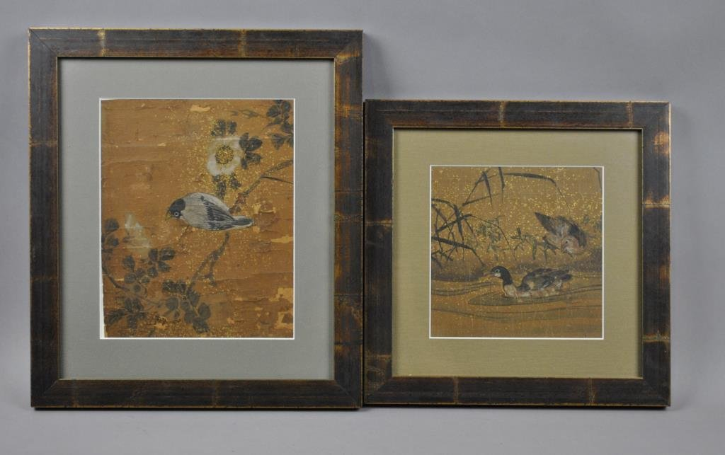 (2) ANTIQUE CHINESE BIRD PAINTINGS