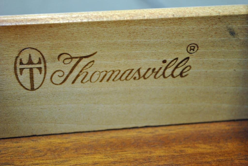 THOMASVILLE MAHOGANY BALL & CLAW FOOT SIDE TABLE - 2