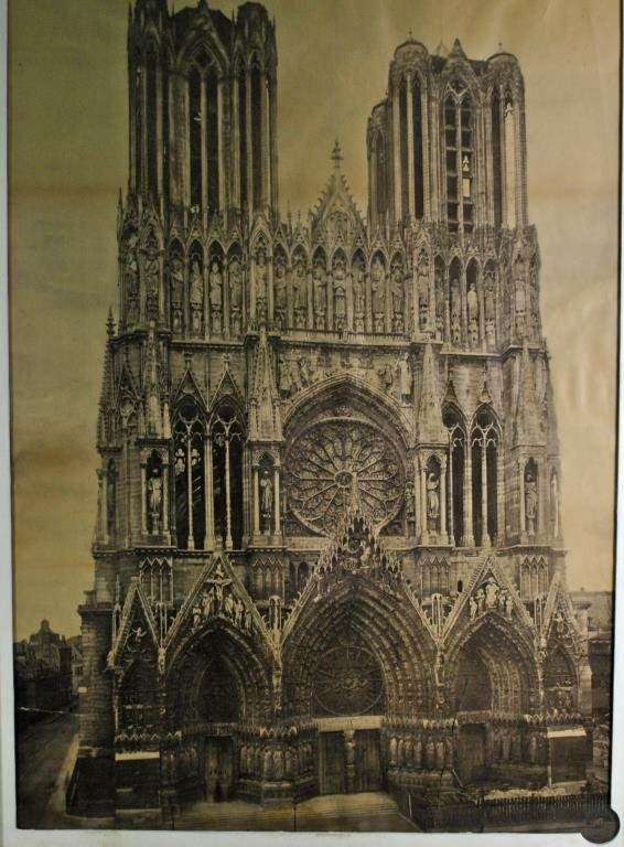 REIMS CATHEDRAL PHOTOGRAPH OF LARGE SIZE