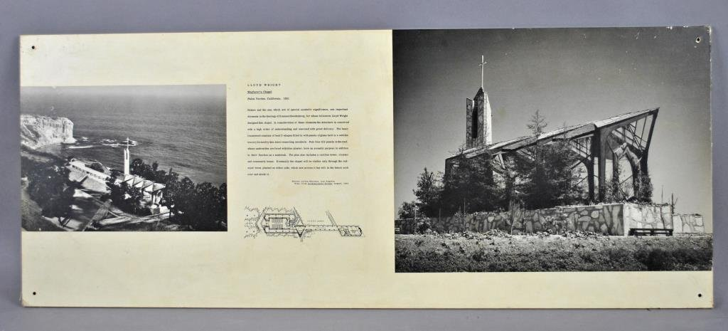 LLOYD WRIGHT MOUNTED PHOTOS - WAYFARER'S CHAPEL