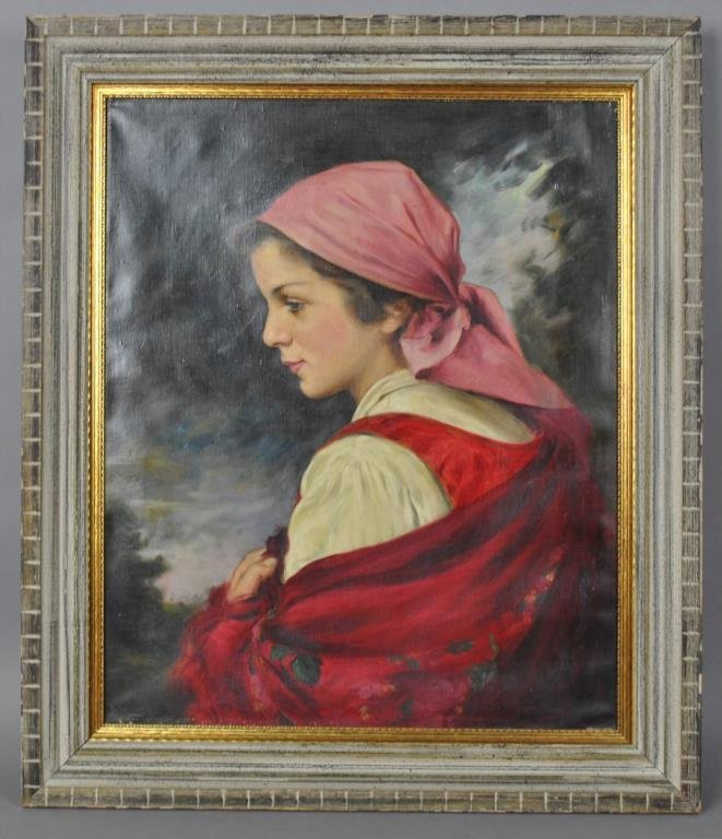CONTINENTAL PORTRAIT SIGNED R. MOLNAR L.