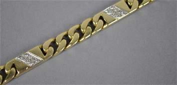 ITALIAN GOLD  DIAMOND BRACELET