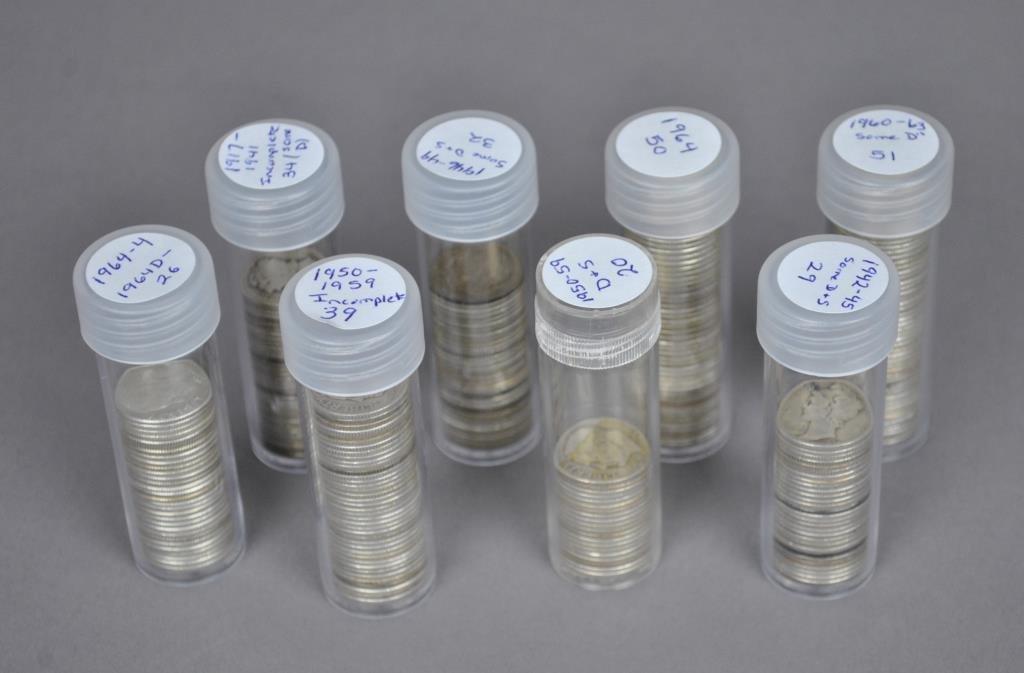 280+ US SILVER TEN CENT COINS - DIMES