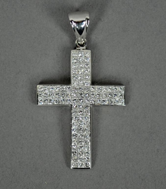 DIAMOND ENCRUSTED CROSS PENDANT
