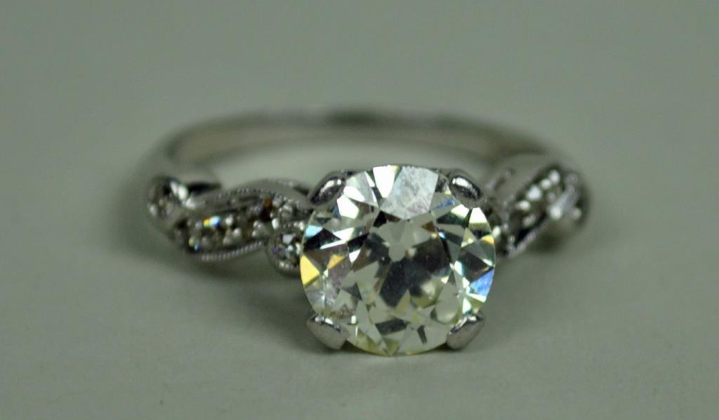 PLATINUM 2.25CT DIAMOND ENGAGEMENT RING