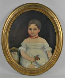 AMERICAN SCHOOL, 19TH CENTURY PORTRAIT OF A CHILD