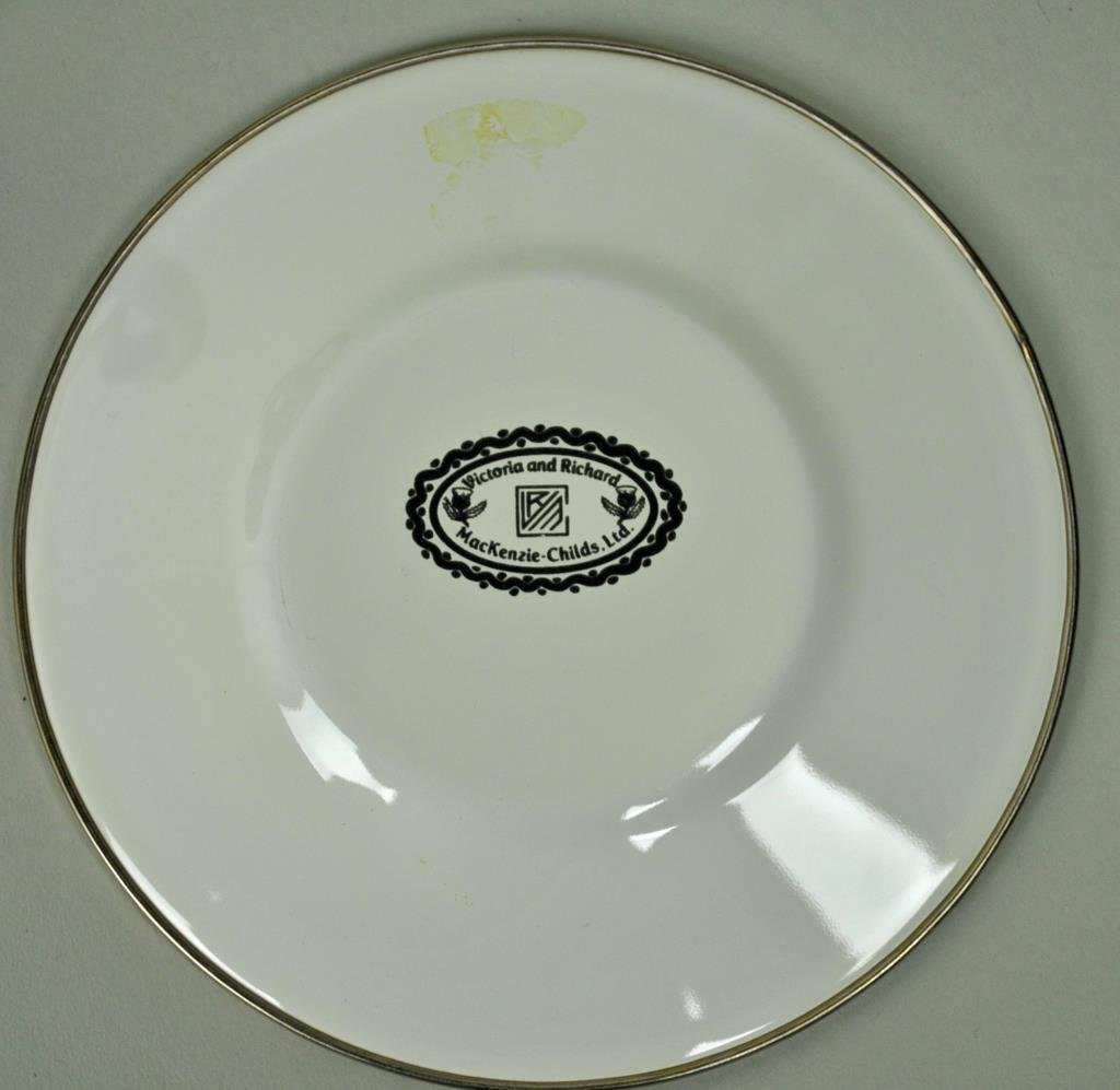 MACKENZIE-CHILDS COURTLY CHECK ENAMELWARE GROUP - 4