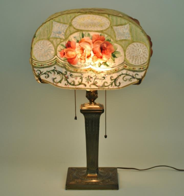 SAN RENO PUFFY GLASS TABLE LAMP BY PAIRPOINT