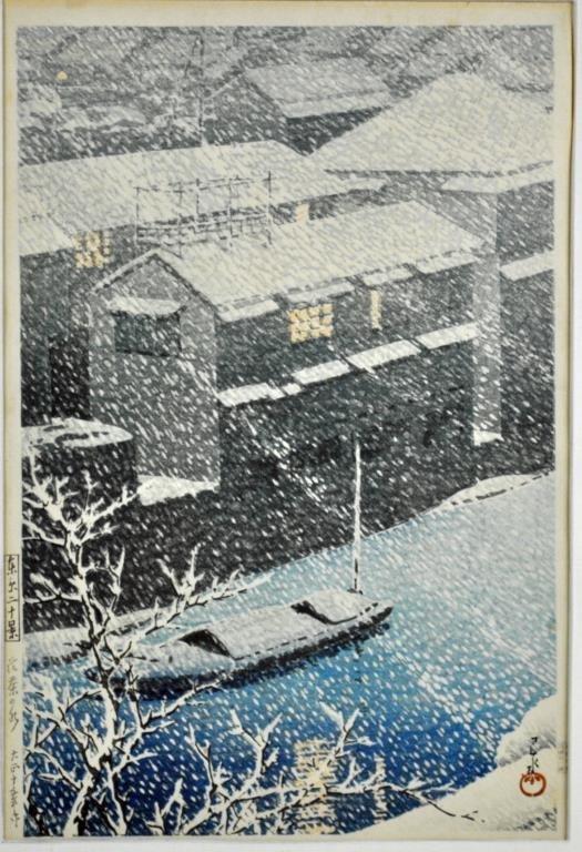 JAPANESE WOODBLOCK PRINT BY HASUI KAWASE