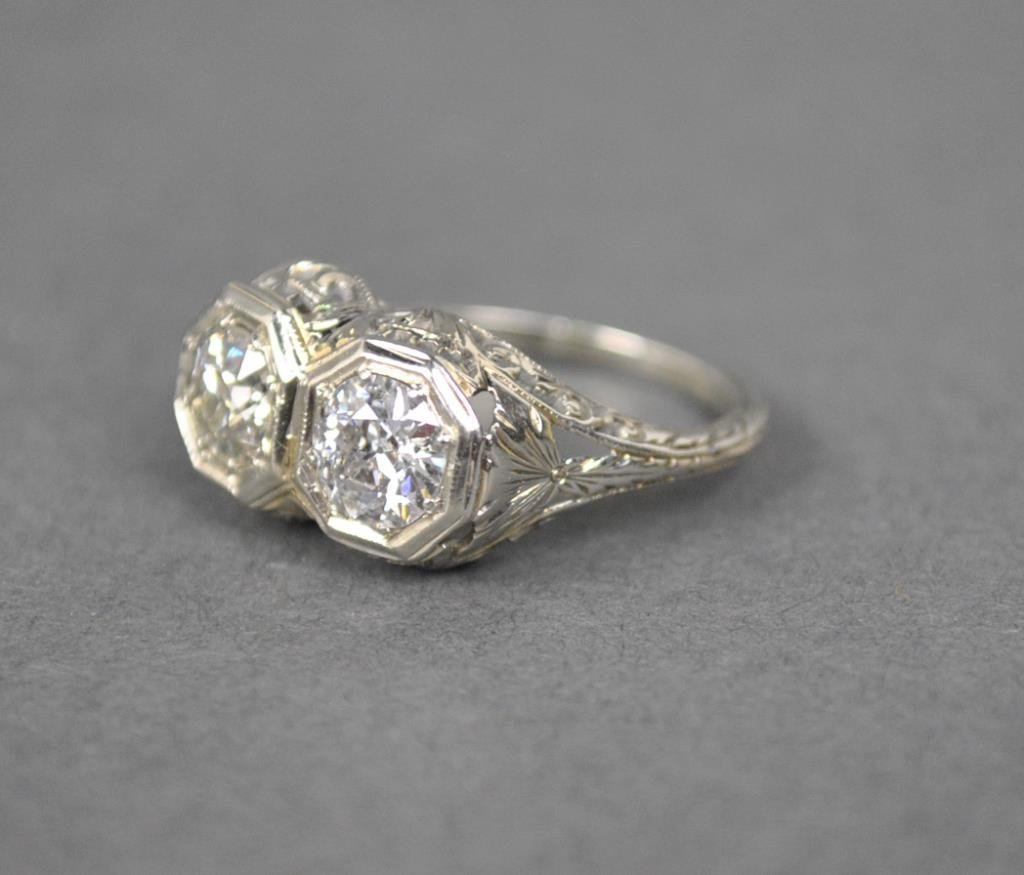 TWIN DIAMOND RING, 1.00CTW
