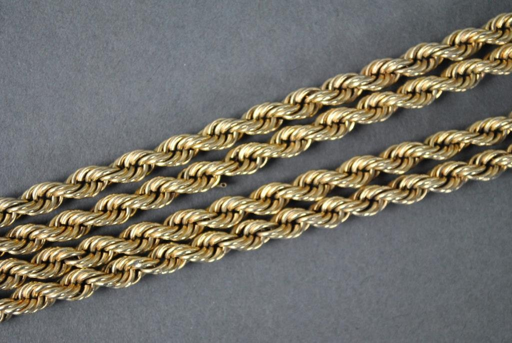 GOLD ROPE LINK NECKLACE