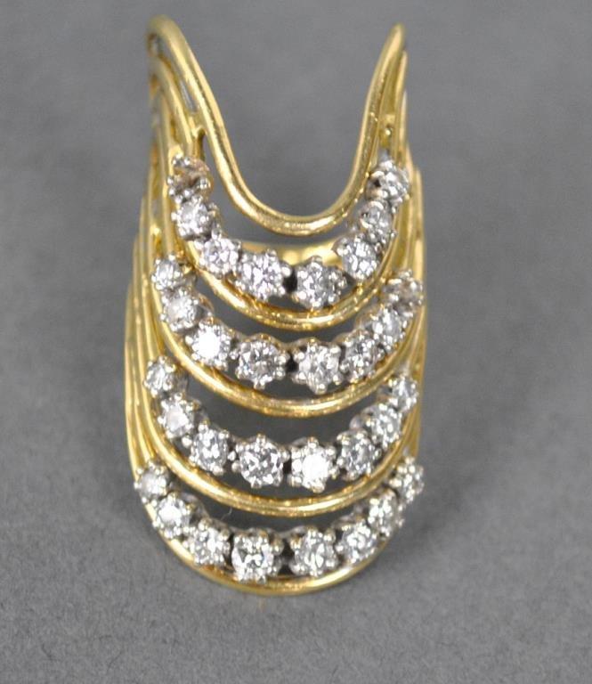 GOLD & DIAMOND FANCY RING, 1.50CTW