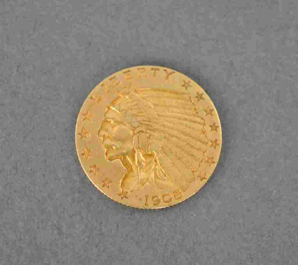US INDIAN HEAD $2.5 DOLLAR GOLD COIN