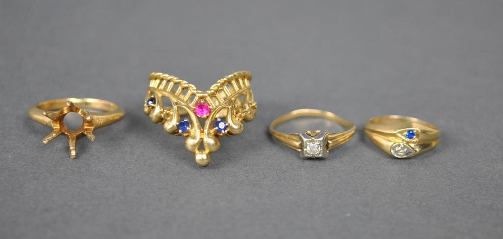 (4) GOLD RINGS