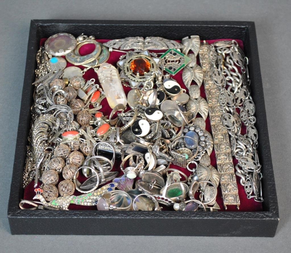 ESTATE COLLECTION AS-IS SILVER JEWELRY GROUP