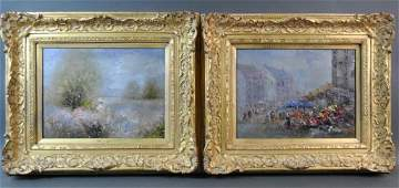 PAIR CONTEMPORARY IMPRESSIONIST PAINTINGS