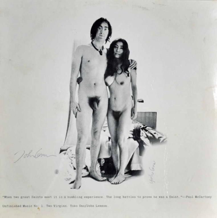 SIGNED JOHN & YOKO 'TWO VIRGINS' ALBUM COVER - 2
