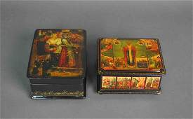 (2) RUSSIAN LACQUER BOXES