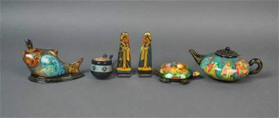 (6) RUSSIAN LACQUER OBJECTS