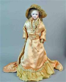 """17"""" FRENCH BISQUE POUPEE BY GAUTHIER"""
