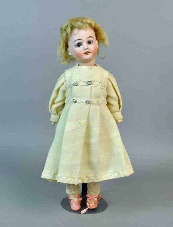 """17"""" FRENCH J.J. BISQUE HEAD DOLL"""