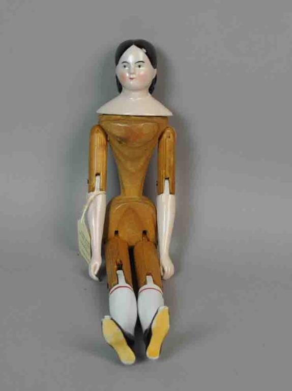 """13"""" WOOD BODIED CHINA DOLL"""