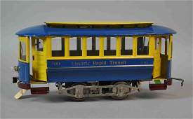 LIONEL NO. 100 ELECTRIC RAPID TRANSIT TROLLEY