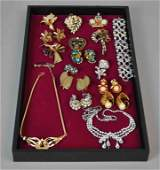 (17) PIECE SIGNED COSTUME JEWELRY GROUP