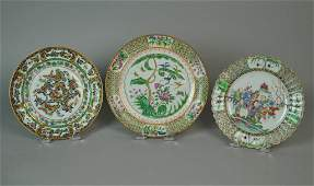 (3) CHINESE EXPORT PLATES