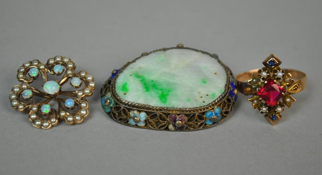 (3) GOLD & SILVER VINTAGE JEWELRIES