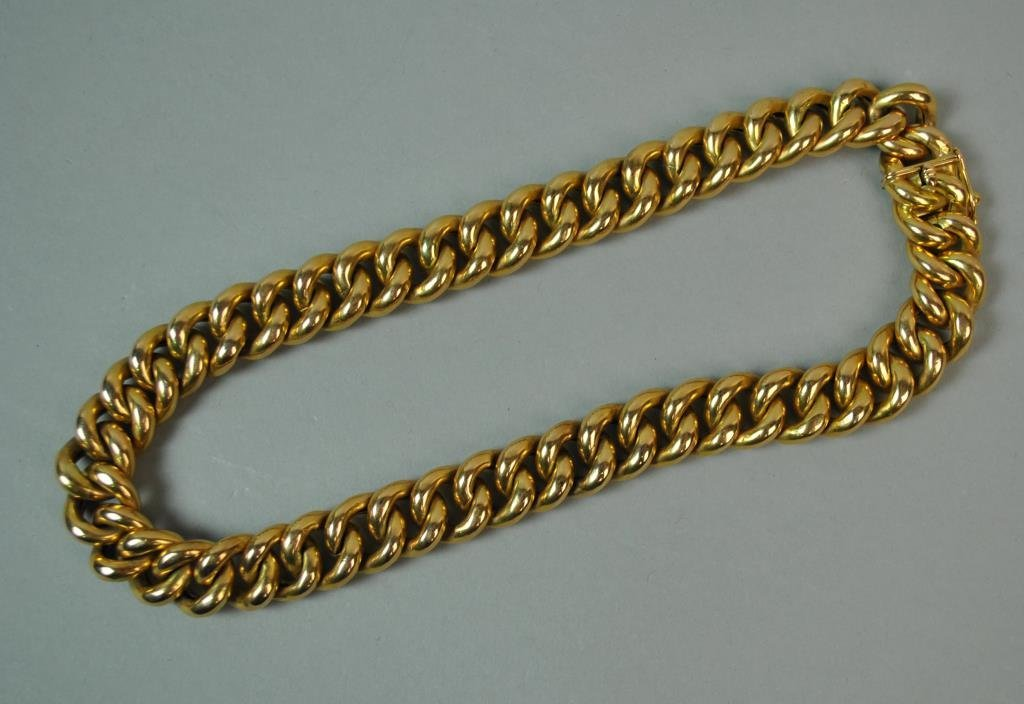 18K HEAVY CURB LINK NECKLACE