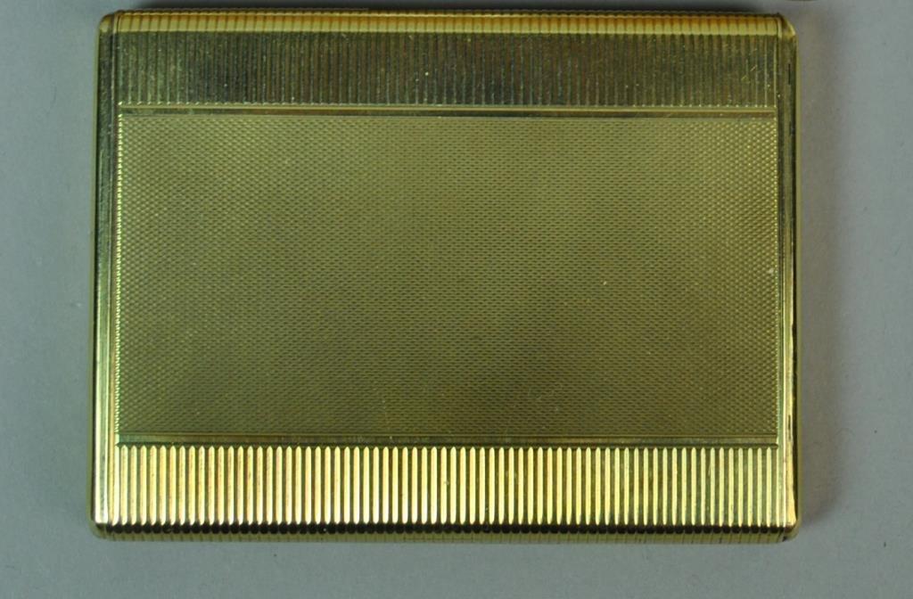 HEINRICH WEISS 14K GOLD COSMETIC CASE